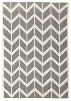 Flat Weave Chevron Arrow Grey Wool Rug   MODERN Auckland   New Zealand