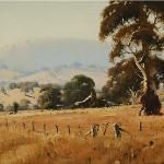 Brungle Homestead - 60 x 45 © Copyright John Wilson Painting Gallery, Art Gallery, Watercolors, Watercolor Paintings, Wilson Art, Australian Artists, Blue Mountain, Any Images, Homestead