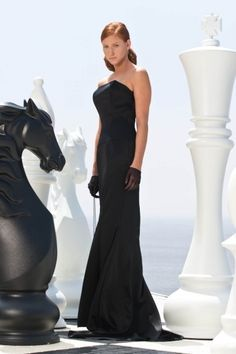 LOOK Elena - black satin corset dress with a clean, constructed front and square strap detail on the back King Fashion, Strapless Dress Formal, Formal Dresses, Fashion Shoot, Chess, Black Satin, Corset, Fiberglass Resin, Photoshoot