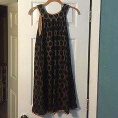 Spotted while shopping on Poshmark: I.N. Studio(Dillard's) Tan Dress w/Black Lace over! #poshmark #fashion #shopping #style #In studio #Dresses & Skirts