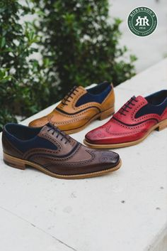 Barker McClean: an Oxford brogue from the Creative Collection. This popular style comes in a range of colour options, which will you choose? 👞 #barkermcclean #robinsonsshoes #weddingshoes #barkercreativecollection Oxford Brogues, Oxford Shoes, New Shoes, Boat Shoes, Shoe Horn, Shoe Tree, Goodyear Welt, Types Of Shoes, Beautiful Shoes