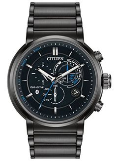 Men's Citizen Eco-Drive Proximity Black Stainless Steel SmartWatch BZ1005-51E -- Awesome products selected by Anna Churchill