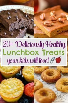 20 Deliciously Healthy Lunchbox Treats Your Kids Will Love The Foodie and The Fix You can feel good about what your kids are eating at school when you send in one of the. Lunch Recipes, Whole Food Recipes, Cooking Recipes, 21 Day Fix Snacks, Healthy Meals For One, Healthy Eating, Food Stamps, Diabetic Snacks, Recipe For Mom