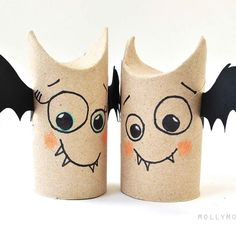 Halloween Craft - Toilet Roll Bats