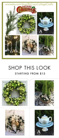 """""""Christmas  Decor"""" by imaginebaby ❤ liked on Polyvore featuring interior, interiors, interior design, home, home decor and interior decorating"""