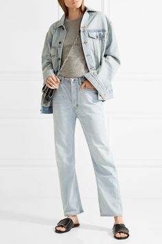 Acne Studios - Log High-rise Straight-leg Jeans - Light denim