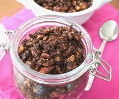Chocolate Hazelnut Granola-It's like dessert for breakfast.  This is the sort of recipe that makes me love being on a low carb diet!