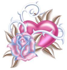 "Photo from album ""Love Hearts"" on Yandex. Rose Tattoos, Flower Tattoos, Body Art Tattoos, Tattoo Drawings, Rose Drawings, Tattoo Arm, Heart Tattoo Designs, Flower Tattoo Designs, Heart Wallpaper"