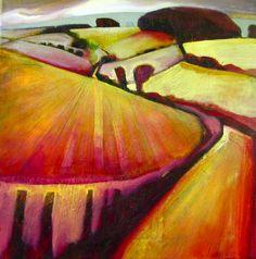 Warm landscape by Sue Fawthrop