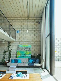 Quero estes tijolos de concreto a vista.