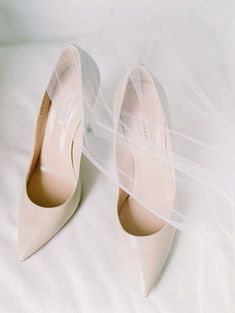 Classic wedding shoes - neutral heels for bride {With Love by Tara Marie}