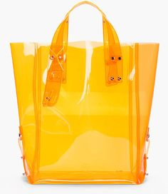 McQ BY ALEXANDER McQUEEN Orange Kingsland Vinyl Shopping Tote