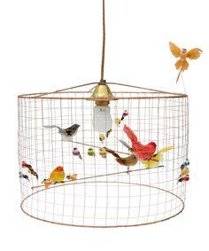 Mathieu Challières Multicolour La Petite Voliere Pendant Lamp | Lighting | Liberty.co.uk