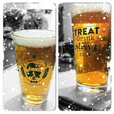 2014 X-Mas Holiday Pint Glasses Dog Treats, Pint Glass, Beer, Glasses, Holiday, Root Beer, Eyewear, Vacations, Beer Glassware