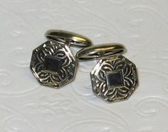 Great Vintage Silver Cufflink Set //Price: $45.00 & FREE Shipping //     #jewelrygifts