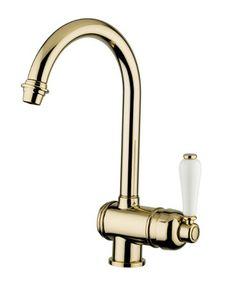 3022 - Miscelatore stile antico ottone lucido #kitchen #faucet