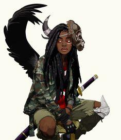 Lewa Okunkun by Pahn Da Blac Black Girl Cartoon, Black Girl Art, Black Women Art, Art Girl, Character Design Cartoon, Fantasy Character Design, Character Design Inspiration, Character Art, Character Poses