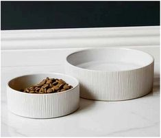 Summer Whites Ceramic Pet Bowls are a beautiful choice for beach and waterside homes. Made of durable stoneware, they are dishwasher safe. Their textured wood grain pattern perfectly complements just about any coastal decor, from sea cottage cozy . Coastal Colors, Coastal Decor, Nautical Home, Pet Bowls, Beach House Decor, White Ceramics, Stoneware, Pup, House Styles