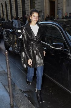 Kaia Gerber Plays With 90's Trends in Paris
