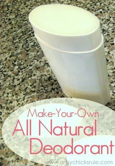 All Natural Deodorant - TUTORIAL and INGREDIENTS - artsychicksrule.com #allnaturaldeodorant
