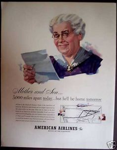 American Airlines Mother and Son (1941)