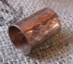 Hammered Copper Dreadlock bead by Soul2Hand on Etsy, $7.00 :: Shop DreadStop.Com for Leather Dreadlock Cuffs, Ties & Dread Beads #dreadstop