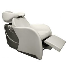 Avery Backwash Shampoo System In Alpine White With White Bowl   Open
