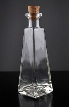 Clear Glass 6 oz. Pyramid Glass Bottles 7in - $4