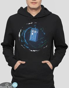 Doctor Who Hoodie | Space and Time and The Universe – Boots Tees. Also available as a t-shirt.
