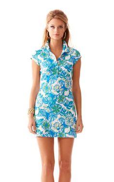 Rayna Printed Polo Dress