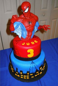 Spiderman birthday cake boys birthday cake