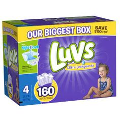 Luvs With Ultra Leakguards Size 4 Diapers 160 Count: Health & Personal Care http://www.amazon.com/gp/offer-listing/B00DDMJ0JE/ref=as_li_qf_sp_asin_tl?ie=UTF8&camp=1789&creative=9325&creativeASIN=B00DDMJ0JE&linkCode=am2&tag=robprod-20
