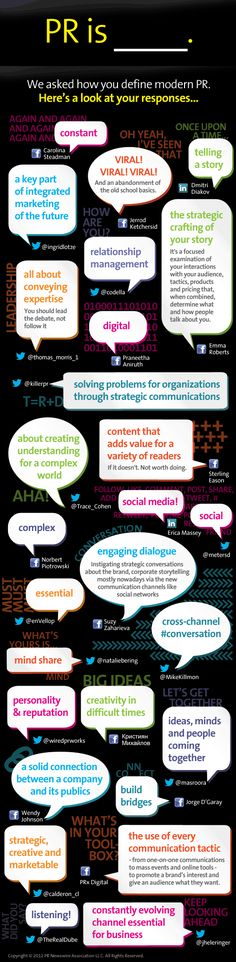 What is PR? Here's an #infographic of definitions supplied by firms, put together by a PRNewswire writer.
