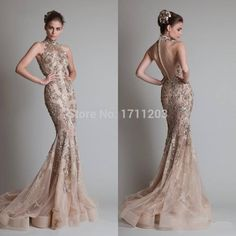 Gorgeous High Neck Off The Shoulder Mermaid Elie Saab Evening Dresses  Appliques Tulle Long Prom Gowns Vestido De Renda-in Evening Dresses from Weddings & Events on Aliexpress.com | Alibaba Group