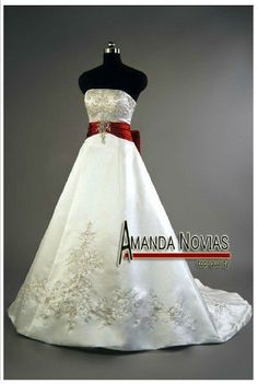 Wedding Dress With Red Sash at Exclusive Wedding Decoration and ...