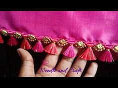 Saree Kuchu New Designs, Churidhar Neck Designs, Saree Tassels Designs, Pattu Saree Blouse Designs, Saree Blouse Patterns, Silk Bangles, Silk Saree Kanchipuram, Baby Girl Dress Patterns, Hand Embroidery Videos