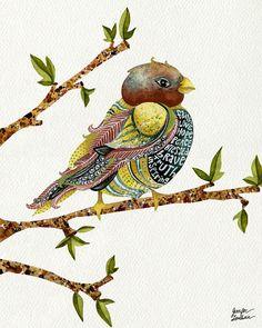 11x14 Art Print Positivity Bird 2 by TheOpulentNest on Etsy, $22.00