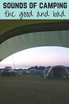 Camping is meant to be peaceful, but the noises you hear are different to home. Here's just some of the camping sounds you may hear  #camping