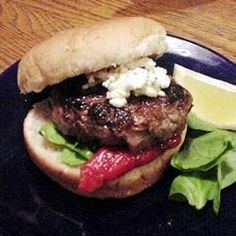 Grilled Spicy Lamb Burgers Allrecipes.com- Doubled the recipe and did 1/2 lamb, 1/2 ground beef. SO good!
