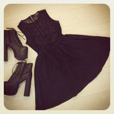 MISS DEMEANOR:    Marie-Ann Sleeveless Lace Skater Dress http://www.missguided.co.uk/marie-ann-sleeveless-lace-skater-dress & Darby Ultimate Leather Platform Boots http://www.missguided.co.uk/darby-ultimate-leather-platform-boots    #MGcompetition