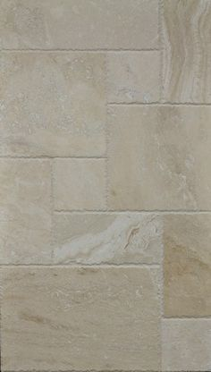 Ivory Fantastic Travertine Versailes Pattern Filled, Brushed and Chiseled Edge