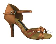 Natural Spin Signature Latin Shoes(Open Toe):  H1109-07a_DrTanS