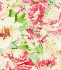 Waverly Upholstery Fabric-Garden Gallery Petal