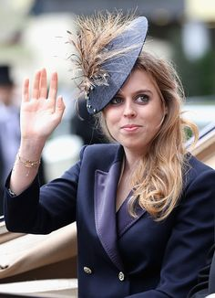 Princess Beatrice arrives in the parade ring at Royal Ascot 2016 at Ascot Racecourse on June 14, 2016 in Ascot, England.