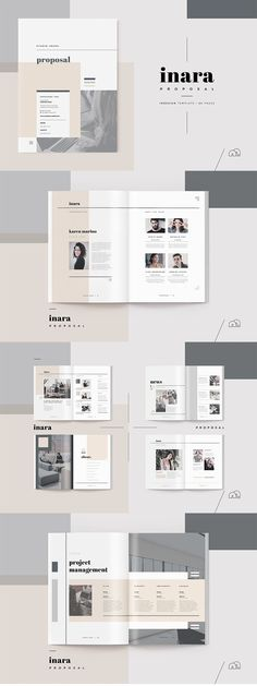 Proposal - Inara - a modern and elegant template like 'Inara' has you covered. A complete business proposal document, created by an experienced designer, containing all the sections you need to secure that contract. Designed with the creative industries in mind, but can be completely changed to suit any industry. #proposal #brochure #design