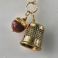 Peter Pan  Jewelry Kiss Thimble Necklace with by HooliganAlley, $36.00