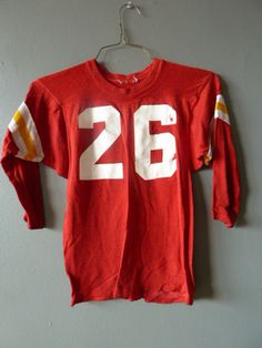 Vintage Varsity Number 26 3/4 Sleeve TShirt by pepeandcarols, $27.99