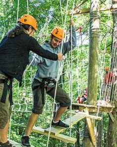 Ropes course, high challenge