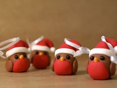 Robin Christmas Decorations by We laugh indoors