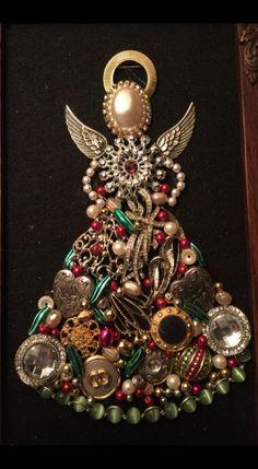 2017 Christmas present. Vintage ever - Repurpose Ideas - 2017 Christmas present. Vintage ever – Repurpose Ideas 2017 Christmas present. Vintage ever / Costume Jewelry Crafts, Vintage Jewelry Crafts, Recycled Jewelry, Antique Jewelry, Mom Jewelry, Jewelry Tree, Jewelry Making, Stone Jewelry, Wire Jewelry